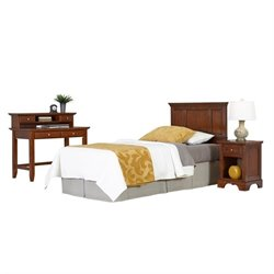 MER-1183 4 Piece Twin Panel Headboard Bedroom Set 5