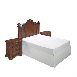Hawthorne Collections 3 Piece Full Queen Panel Headboard Bedroom Set