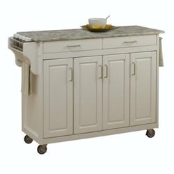 MER-1183 Concrete Top Kitchen Cart 1