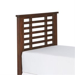 Hawthorne Collections Twin Wood Slatted Headboard in Chestnut