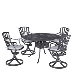 Hawthorne Collections 5 Piece Patio Dining Set with Cushions