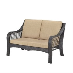 Hawthorne Collections Patio Loveseat in Deep Brown