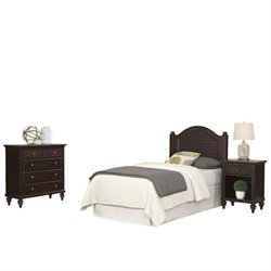 MER-1183 Bermuda Twin Headboard, Night Stand, and Chest