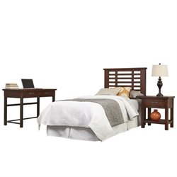 Hawthorne Collections 3 Piece Twin Panel Headboard Bedroom Set