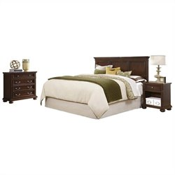MER-1183 Bedroom Set in Dark Cherry