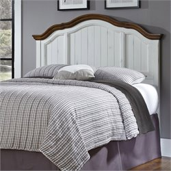 MER-1183 Headboard in Oak and Rubbed White