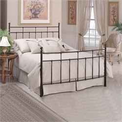 MER-1183 Metal Panel Bed in Antique Bronze