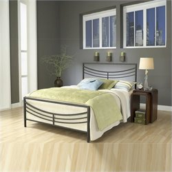 MER-1183 Panel Bed in Brown