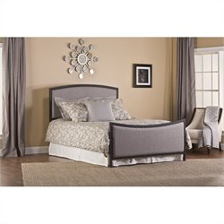 MER-1183 Upholstered Panel Bed in Gray and Black