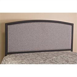 MER-1183 Panel Headboard with Rails in Gray