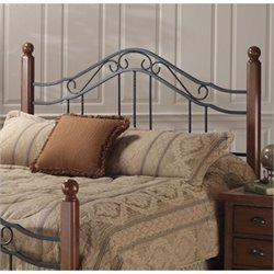 MER-1183 Spindle Headboard in Antique Black