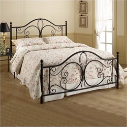 MER-1183 Metal Poster Bed in Brown