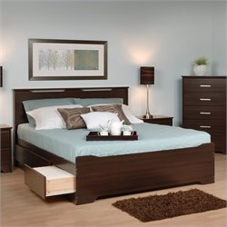 MER-1183 Platform Storage Bed in Espresso 1