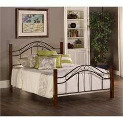 MER-1183 Poster Bed in Cherry and Black