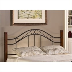 MER-1183 Spindle Headboard and Footboard in Cherry and Black