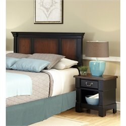 MER-1183 Headboard and Night Stand in Black Cherry