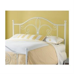 MER-1183 Spindle Headboard in White 2