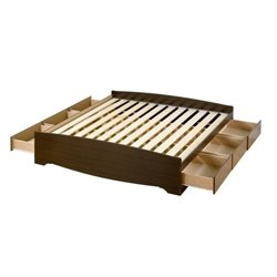 MER-1183 Platform Storage Bed in Espresso