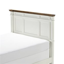 MER-1183 Panel Headboard in White 1