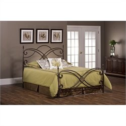 MER-1183 Metal Panel Bed Set with Rails