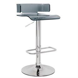 Atlin Designs Swivel Adjustable Bar Stool in Gray