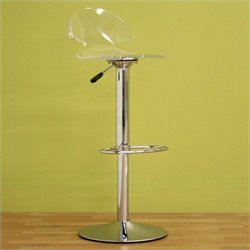 Atlin Designs Adjustable Swivel Acrylic Bar Stool (Set of 2)
