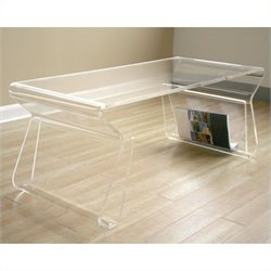 Atlin Designs Acrylic Magazine Rack Coffee Table