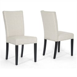 Atlin Designs Dining Chair in Beige (Set of 2)