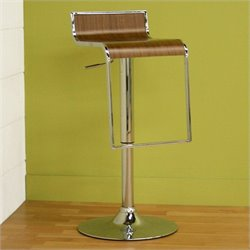 Atlin Designs Adjustable Bar Stool in Walnut (Set of 2)