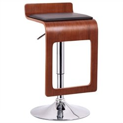 Atlin Designs Adjustable Swivel Bar Stool in Walnut (Set of 2)