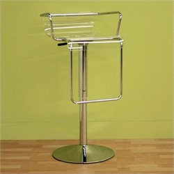 Atlin Designs Adjustable Swivel Acrylic Bar Stool