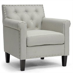 Atlin Designs Linen Accent Chair in Beige