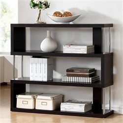 Atlin Designs 3 Shelf Bookcase in Dark Brown