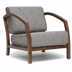 Atlin Designs Fabric Accent Chair in Brown