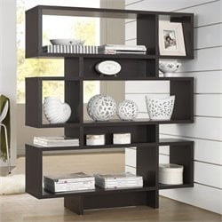 Atlin Designs 3 Shelf Bookcase in Espresso