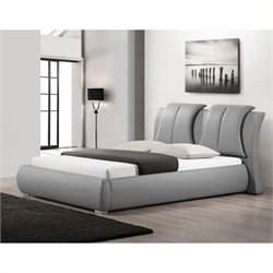 Atlin Designs Queen Faux Leather Platform Bed