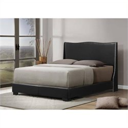 Atlin Designs Queen Faux Leather Panel Bed (1)