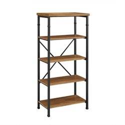 Atlin Designs 4 Shelf Bookcase in Black