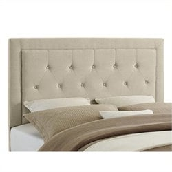 Atlin Designs Full Queen Tufted Panel Headboard in Natural