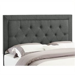 Atlin Designs Full Queen Tufted Panel Headboard in Gray