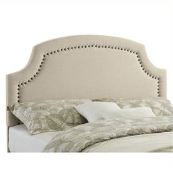 Atlin Designs Upholstered Full Queen Headboard in Natural