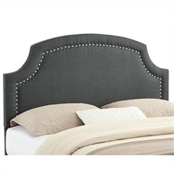 Atlin Designs Upholstered Full Queen Headboard in Charcoal