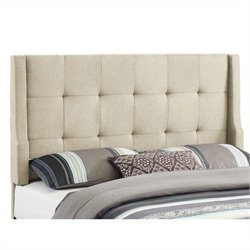 Atlin Designs Full Queen Tufted Wingback Panel Headboard in Natural
