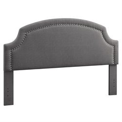 Atlin Designs Upholstered King Headboard in Charcoal