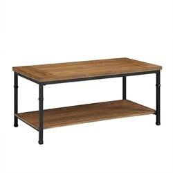Atlin Designs Ash Veneer Top Coffee Table in Black