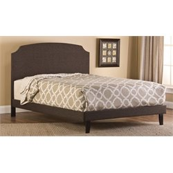 Merch-1188 Atlin Designs Upholstered Bed in Dark Brown-MKH