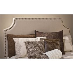 Merch-1188 Atlin Designs Panel Headboard with Rails in Ivory-HR