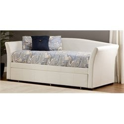 Merch-1188 Atlin Designs Faux Leather Daybed with in White