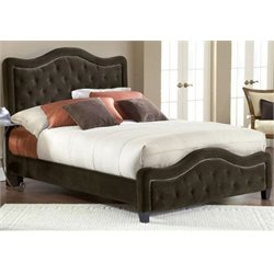 Merch-1188 Panel Headboard with Rails in Chocolate-AN