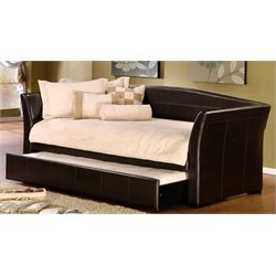 Merch-1188 Atlin Designs Faux Leather Daybed in Brown